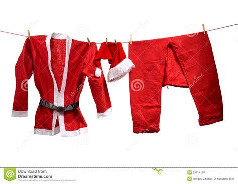 imagenes ropa de santa claus la ropa de santa claus en la cuerda para tender la ropa
