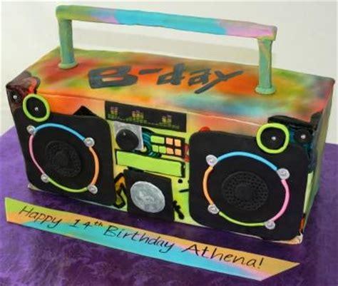 Jual Birthday Cake Aj Bakery colorful spray painted graffiti boom box 14th birthday cak