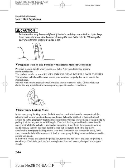 2012 Mazda Mazda3 Sedan And Hatchbackowners Manual