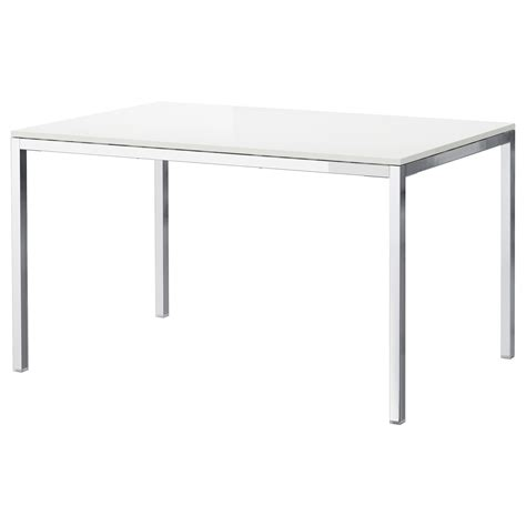 white ikea table torsby table chrome plated high gloss white 135x85 cm ikea