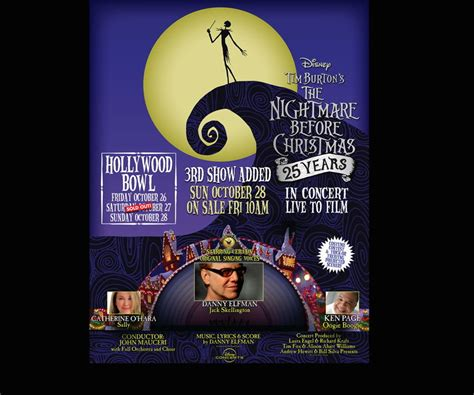 danny elfman nightmare before christmas hollywood bowl the best halloween events and attractions in los angeles