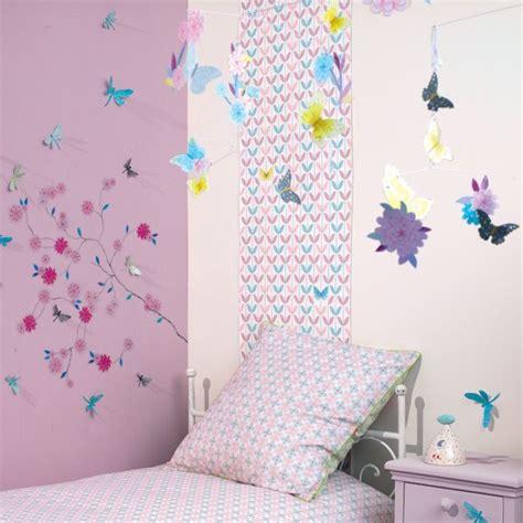 Superbe Deco Chambre Enfant Fille #1: chambre-fille-papillon-fleur-djeco.jpg