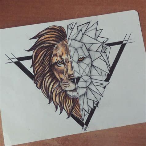 geometric animal tattoo lion geometric lion tattoo tumblr