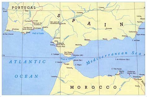 strait of gibraltar map strait of gibraltar europe map car interior design