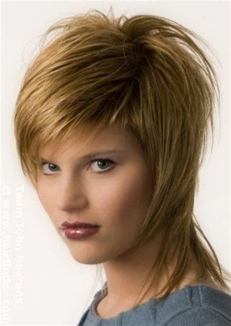 short hairstyles with long layers on top