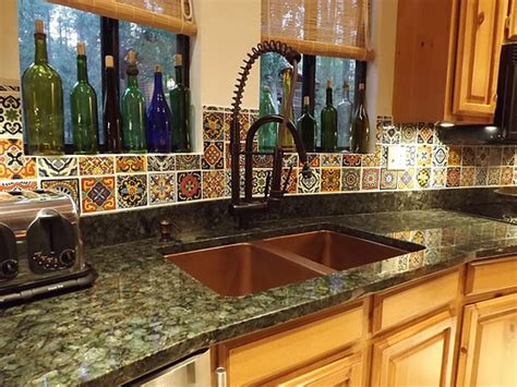 spanish tile backsplash best choice for creating mexican kitchen style homesfeed