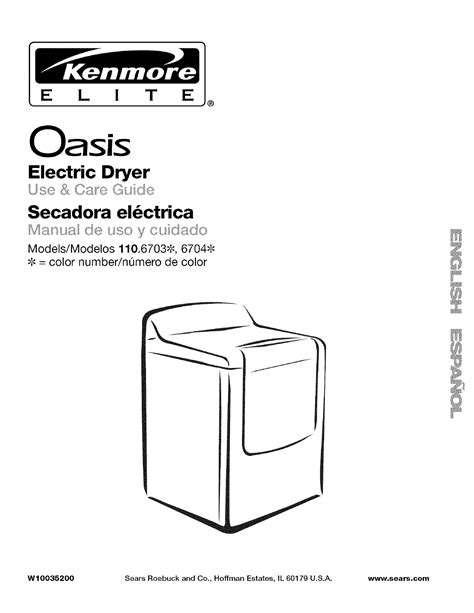 Kenmore Clothes Dryer 110 6703 User Guide Manualsonline