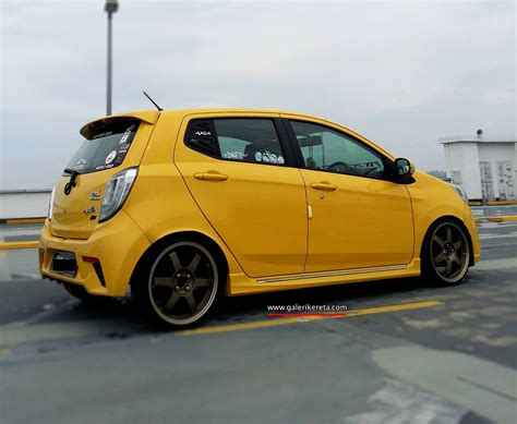 perodua axia yellow modified share my ride gk151