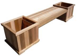 cedar planter box bench plans pdf chair plan