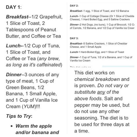 printable military diet shopping list june 2017 health blog