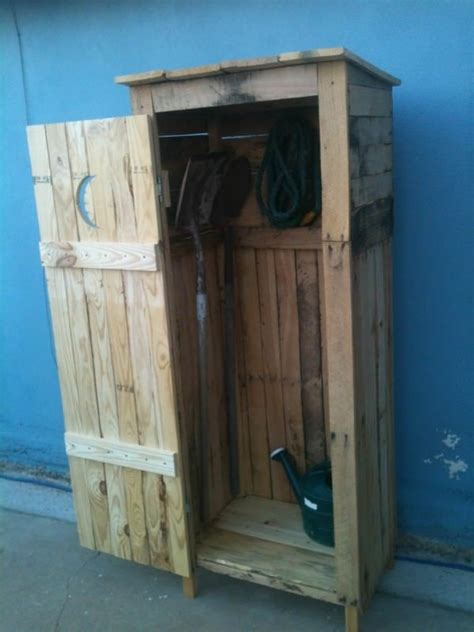 mini storage shed outhouse  pallet cabinets mini