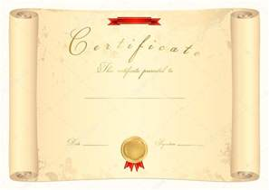 scroll certificate diploma of completion template