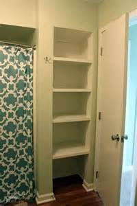 Bathroom Closet Door Ideas by Open Closet Shelves After Diy Pinterest