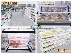 Home Decor Stores simsupermarket by sim4fun at sims fans 187 sims 4 updates
