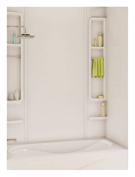 bathtub wall kit maax finesse 5 piece bathtub wall kit 48 61 in l x 30 34 in w x 80 in h x 1 8 in