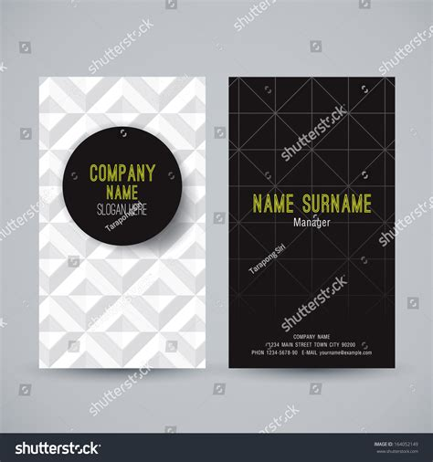 name card vector template business card template name card abstract background