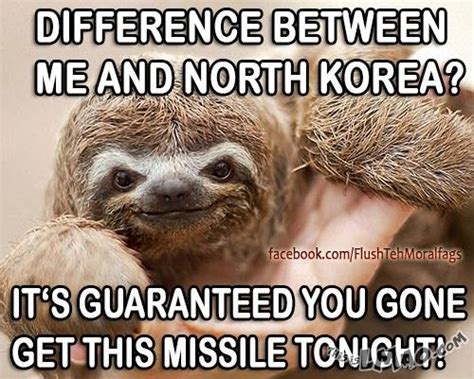 Perverted Sloth Meme - hahaha omg look at this sloth missile sloth pervert