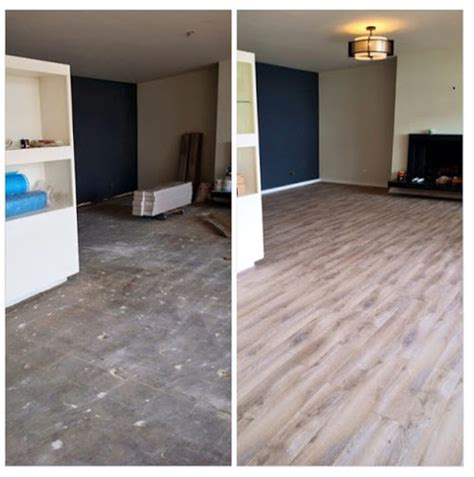 laminate wood flooring before after