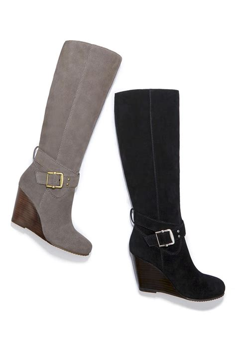 sole society boots suede wedge boots with buckles sole society valentina