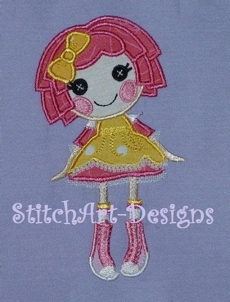 design a lalaloopsy doll lalaloopsy sugar crumb doll applique design 4x4 hoop
