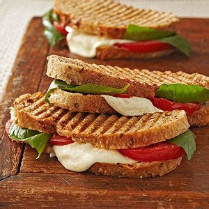 Light Walnut By Minimarket Vegan caprese panini