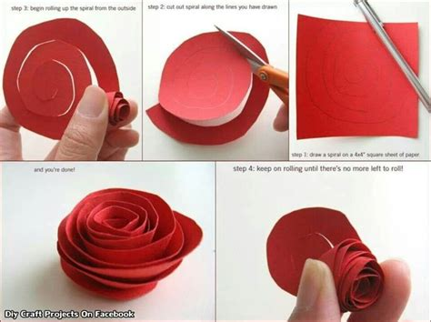 Paper Roses Craft - paper diy