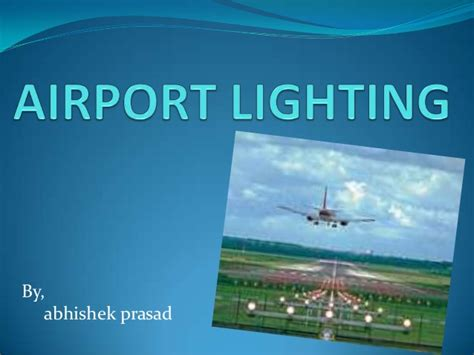 layout of airport ppt airport lighting