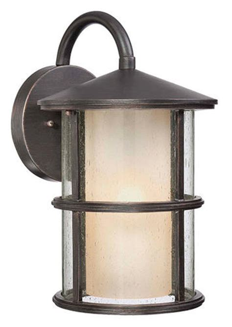 outdoor lighting menards patriot lighting 174 glass n glass 15 50 quot espresso 1 light