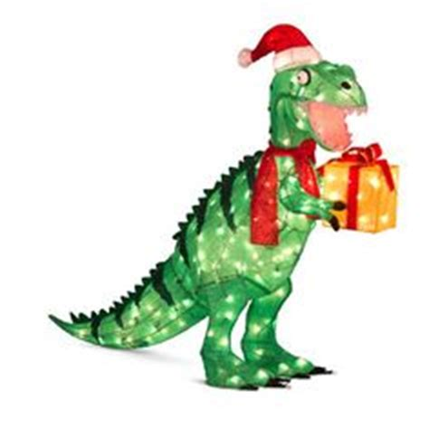 lighted dinosaur christmas decoration 7x12ft dinosaur elves outdoor lighted decor yard