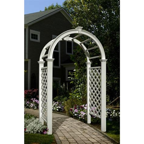 new arbors livingston 91 in x 49 in vinyl arbor