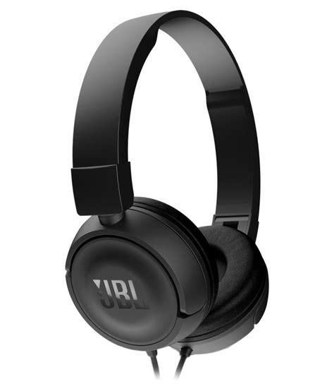 Earphone Jbl jbl t450 on ear wired headphones with mic black buy jbl