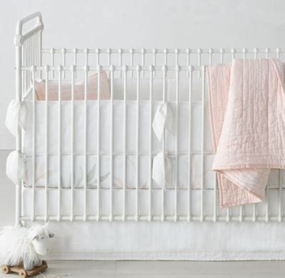 ultra fine organic cotton solid crib bumper