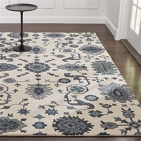 blue patterned rugs juno blue patterned wool rug crate and barrel