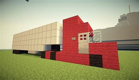 minecraft semi average semi trailer truck minecraft project
