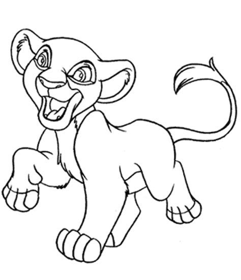 lion king kiara coloring pages lion king coloring pages kovu