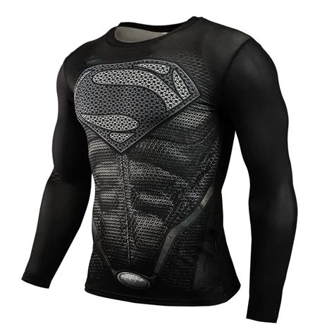 T Shirt 3d Superman 2015 new sport fitness compression shirt superman