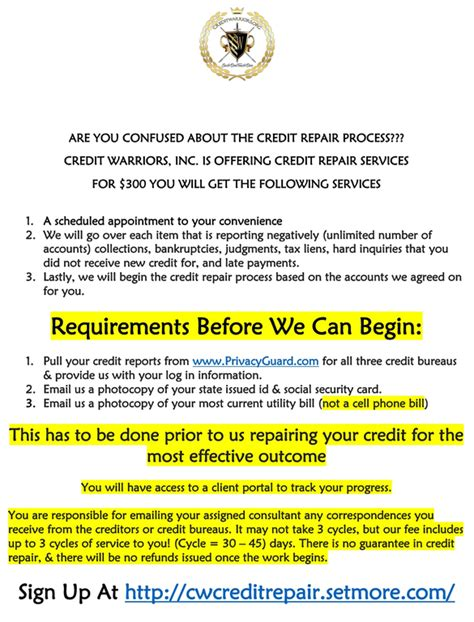 Credit Warriors Letters