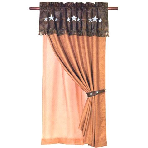 western star curtains triple turquoise star western curtain panel 1
