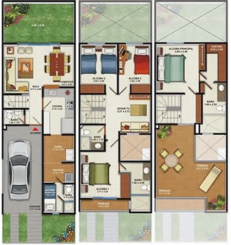 Garden State Plaza Floor Plan by 3d Home Design 160m2 House Plans 3 Floors 4 Bedrooms