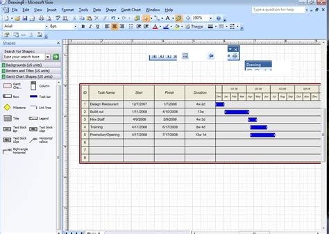 project management visio visio gantt chart sort by start date automating the