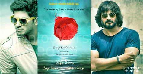 film love s coming madhavan coming back to mollywood through dulquer movie