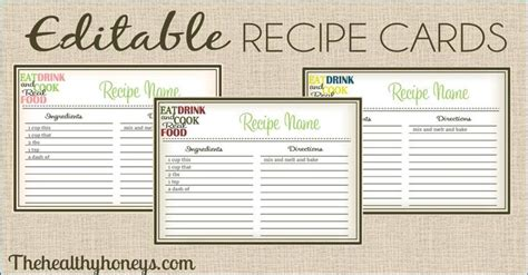 free alzheimer recipe card template real food recipe cards diy editable catchy phrases