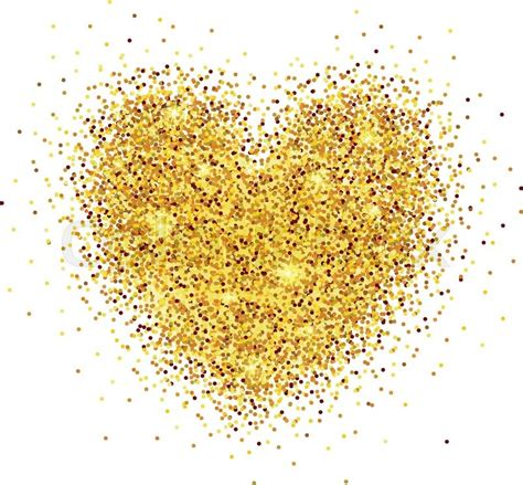 hand sketched glitter heart background for valentine s day