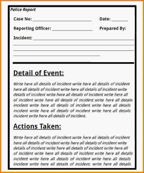 Incident Report Writing Pdf by Incident Report Writing Order Custom Essay