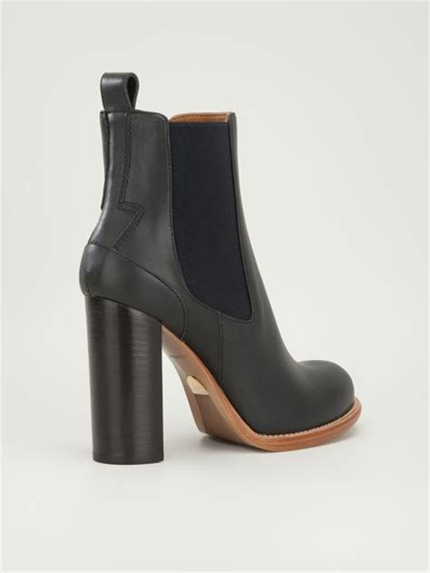 high heel chelsea boot chlo 233 high heel chelsea boot in black lyst