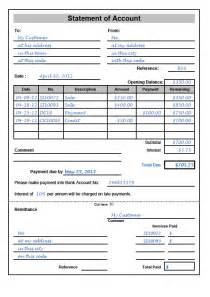 statement of account template statement of account sle and template