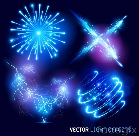 vector light tutorial 4 brilliant blue light effect vector over millions