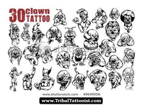 tribal clown tattoos 40 best clown designs