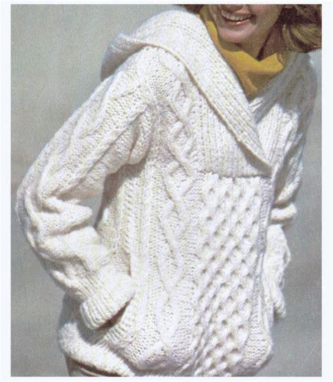 knit aran sweater free pattern aran knit hooded sweater super sweet pattern by cowichanvalley