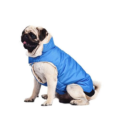 cold weather dogs kuoser cotton thickened fleece lining vest winter coat warm apparel for cold